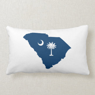 South Carolina in Blue and White Throw Pillow