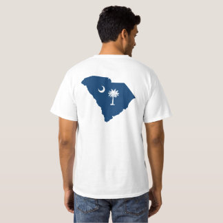 South Carolina in Blue and White Shirt