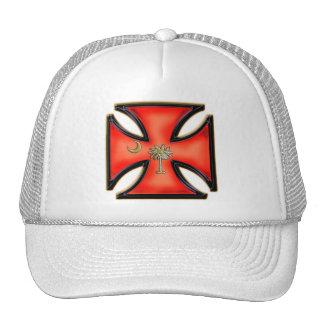 South Carolina Iron Cross Orange Trucker Hat