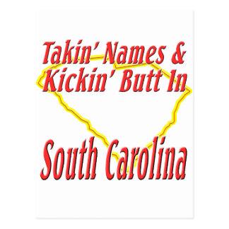 South Carolina - Kickin' Butt Postcard