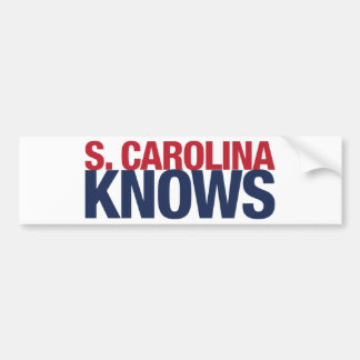 South Carolina Knows Bumper Sticker