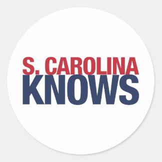 South Carolina Knows Classic Round Sticker