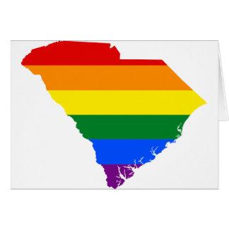 South Carolina LGBT Flag Map Card