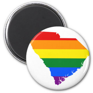 South Carolina LGBT Flag Map Magnet