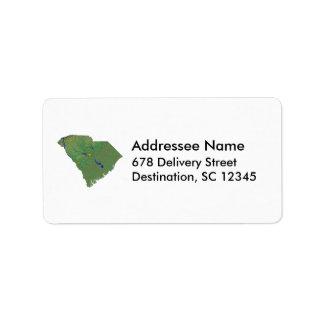 South Carolina Map Address Label