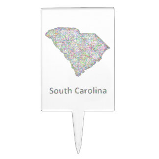 South Carolina map Cake Topper