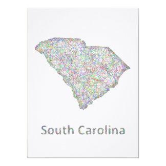 South Carolina map Card