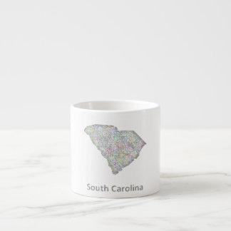 South Carolina map Espresso Cup