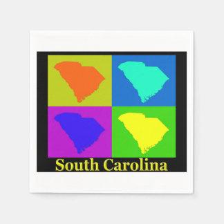 South Carolina Map Paper Napkin