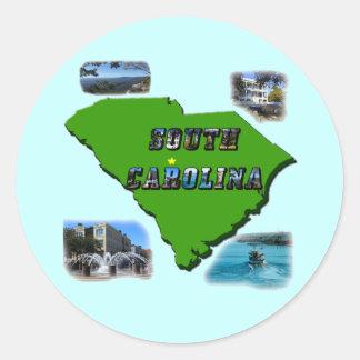 South Carolina Map, Photos and Text Stickers