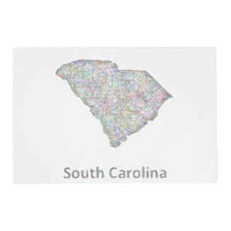 South Carolina map Placemat