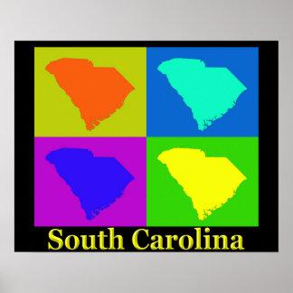 South Carolina Map Poster