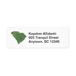 South Carolina Map Return Address Label