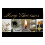 South Carolina Merry Christmas Collage Card