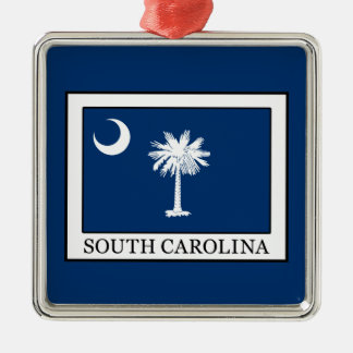 South Carolina Metal Ornament