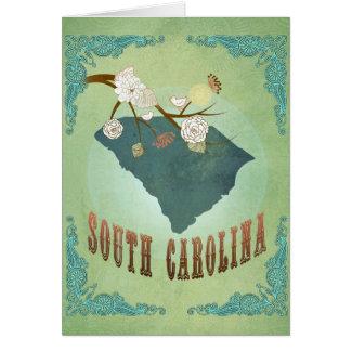South Carolina Modern Vintage State Map – Green Card