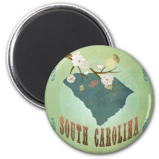 South Carolina Modern Vintage State Map – Green Magnet