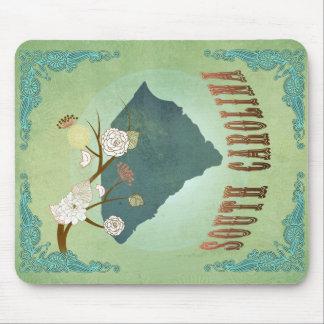 South Carolina Modern Vintage State Map – Green Mouse Pad