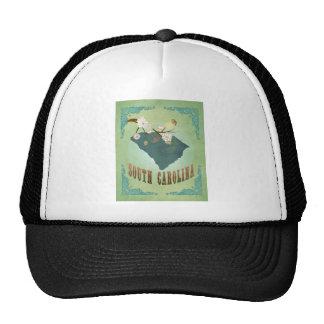 South Carolina Modern Vintage State Map – Green Trucker Hat