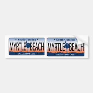 South Carolina Myrtle Beach Sunrise license plate Bumper Sticker