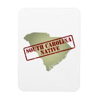 South Carolina Native Stamped on Map Magnet
