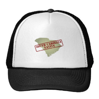South Carolina Native Stamped on Map Trucker Hat
