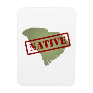 South Carolina Native with South Carolina Map Magnet