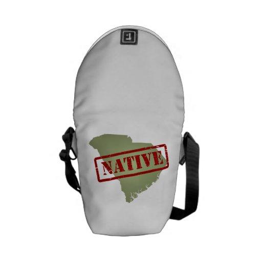 South Carolina Native with South Carolina Map Courier Bags