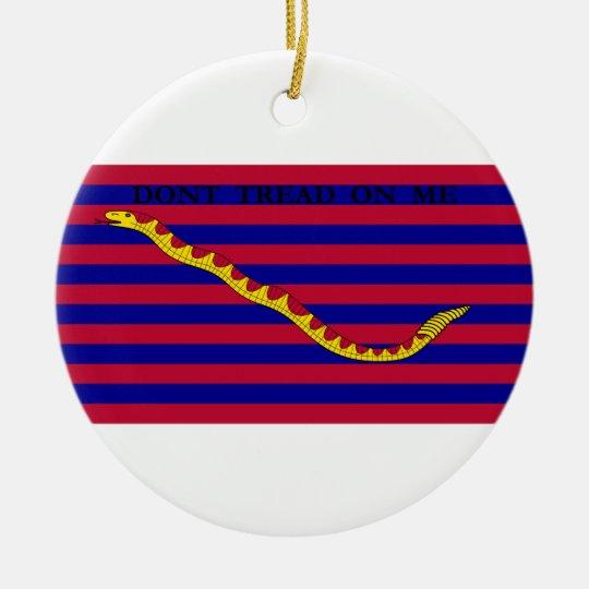 South Carolina Naval Flag during Revolutionary War Ceramic Ornament