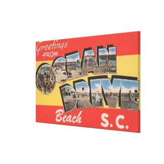 South Carolina - Ocean Drive Beach Canvas Print