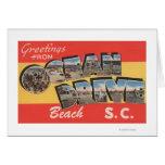 South Carolina - Ocean Drive Beach Greeting Card