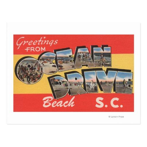 South Carolina - Ocean Drive Beach Postcards
