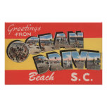 South Carolina - Ocean Drive Beach Posters