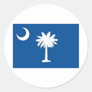 South Carolina  Official State Flag Round Sticker