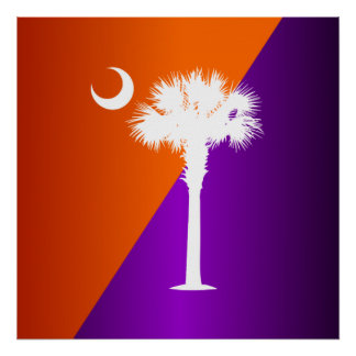 South Carolina Orange & Purple Poster