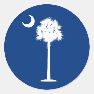 South Carolina Palmetto and Crescent Moon Sticker
