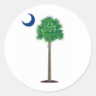 South Carolina Palmetto and Crescent Round Stickers