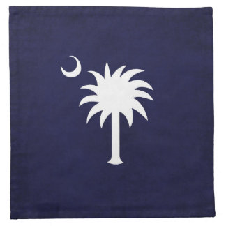 South Carolina Palmetto Cocktail Napkins Navy Blue
