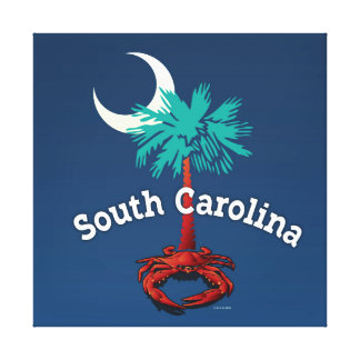 South Carolina Palmetto Crab Canvas Print