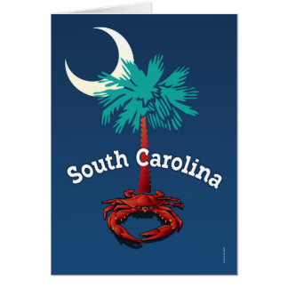 South Carolina Palmetto Crab Card