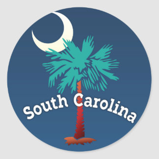 South Carolina Palmetto Crab Classic Round Sticker