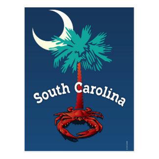 South Carolina Palmetto Crab Postcard