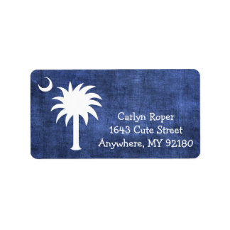 South Carolina Palmetto Denim Wash Labels