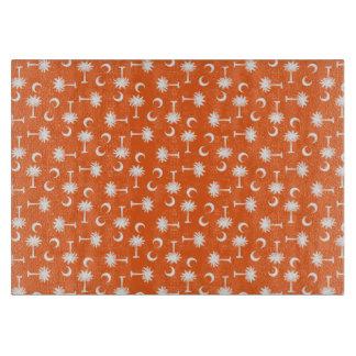 South Carolina Palmetto Moon Flag Orange Cutting Boards