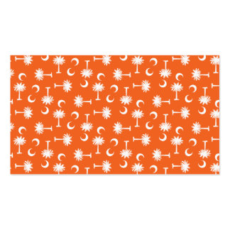 South Carolina Palmetto Moon Flag Orange Double-Sided Standard Business Cards (Pack Of 100)