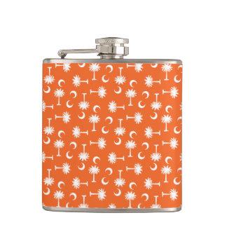 South Carolina Palmetto Moon Flag Orange Flask