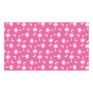 South Carolina Palmetto Moon Flag Pink Double-Sided Standard Business Cards (Pack Of 100)
