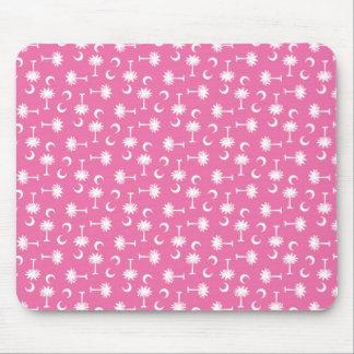 South Carolina Palmetto Moon Flag Pink Mouse Pad