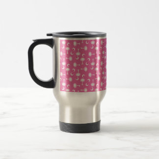 South Carolina Palmetto Moon Flag Pink Travel Mug