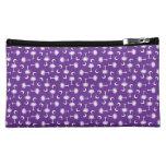 South Carolina Palmetto Moon Flag Purple Makeup Bags